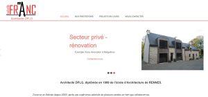 capture écran du site Le Franc Architecte