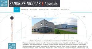 Capture écran architecte Sandrine Nicolas à Pontivy